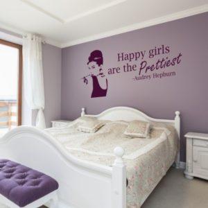 Adesivo Murale Prettiest Audrey Hepburn