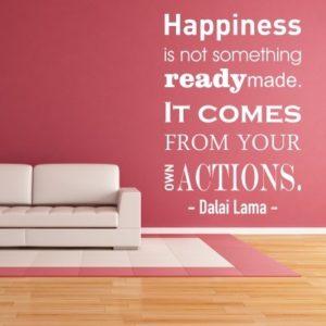 Adesivo Murale Dalai Lama Happiness
