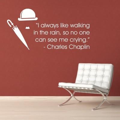 Adesivo Murale Charles Chaplin Crying