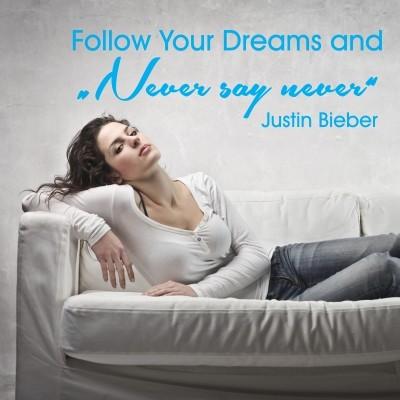 Adesivo Murale Justin Bieber Never Say Never