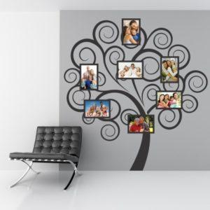 Adesivo Murale Family Tree