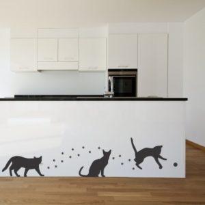 Adesivo Murale Gatto Giocherellone
