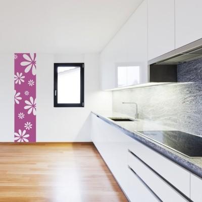 Adesivo Murale Cornice con Fiori