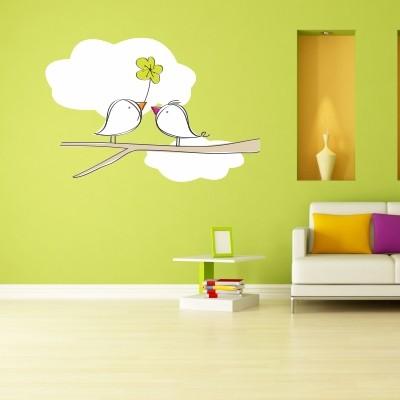 Adesivo Murale Uccellini in Amore