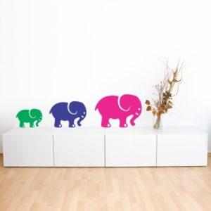 Adesivo Murale Elefanti