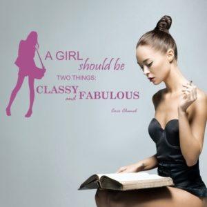 Adesivo Murale Coco Chanel Classy