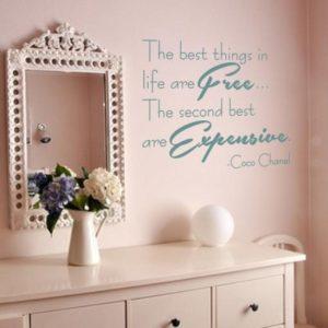 Adesivo Murale Coco Chanel Free Expensive