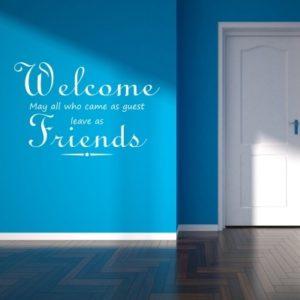 Adesivo Murale Welcome Friends