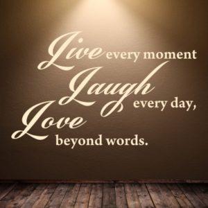 Adesivo Murale Live Laugh Love (2)