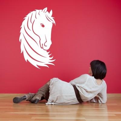 Adesivo Murale Testa di Cavallo