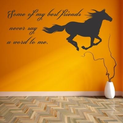 Adesivo Murale Best friends Konj