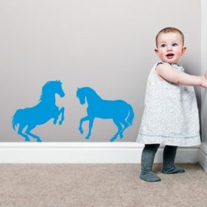 Adesivo Murale Due Cavalli