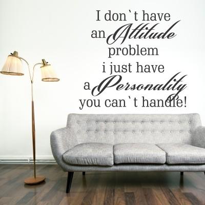 Adesivo Murale Attitude