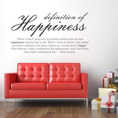 Adesivo Murale Happiness John Lennon