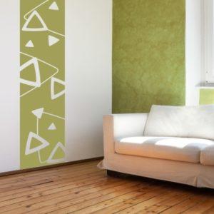 Adesivo Murale Cornice con Triangoli