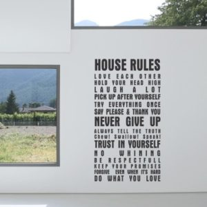 Adesivo Murale House Rules (2)