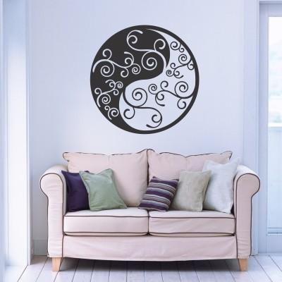 Adesivo Murale Yin e Yang