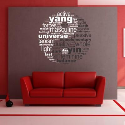 Adesivo Murale Yin Yang