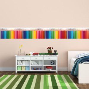 Adesivo Murale Matite Colorate