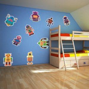 Adesivo Murale Robottini