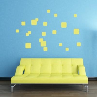 Adesivo Murale Quadrati Creativi