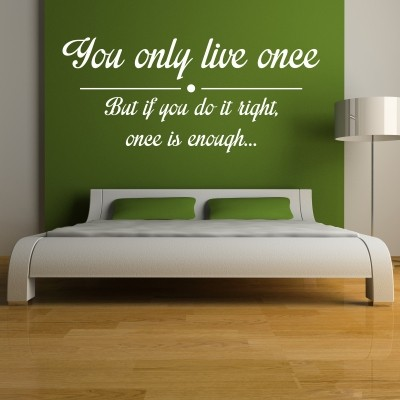 Adesivo Murale You Only Live Once