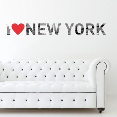 Adesivo Murale I love New York