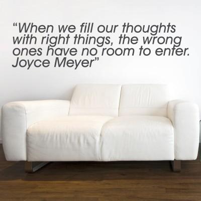 Adesivo Murale Joyce Meyer Thoughts