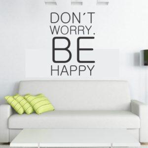 Adesivo Murale Be Happy