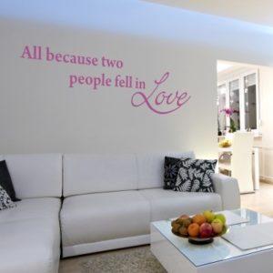 Adesivo Murale Two People Fell In Love (2)