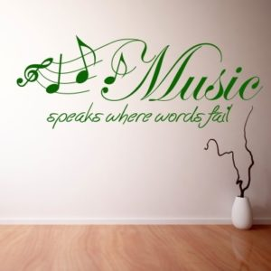 Adesivo Murale Music Speaks