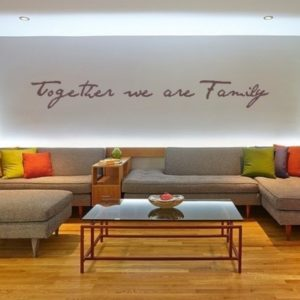 Adesivo Murale Together We Are Family