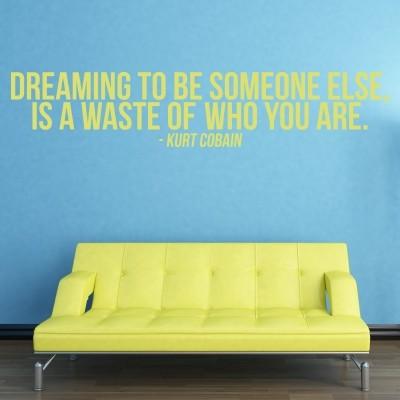 Adesivo Murale Dreaming to Be Someone Else Kurt Cobain