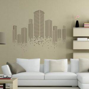 Adesivo Murale Grattacieli Minimal