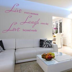 Adesivo Murale Live Laugh Love (3)