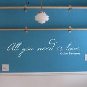 Adesivo Murale All You Need Is Love John Lennon