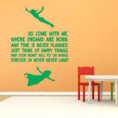 Adesivo Murale So Come With Me Peter Pan