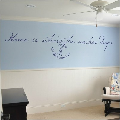 Adesivo Murale Home is Where the Anchor Drops