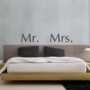 Adesivo Murale Mr. Mrs.