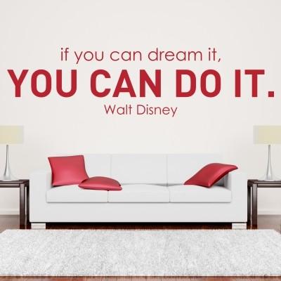 Adesivo Murale You Can Do It