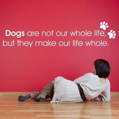 Adesivo Murale Love the Dogs
