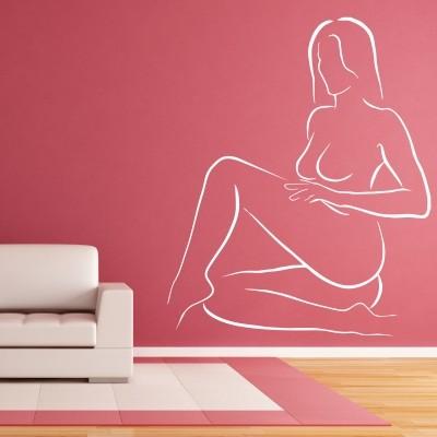 Adesivo Murale Donna Stilizzata