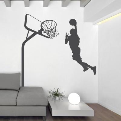 Adesivo Murale Basket Schiacciata