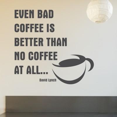 Adesivo Murale Bad Coffee