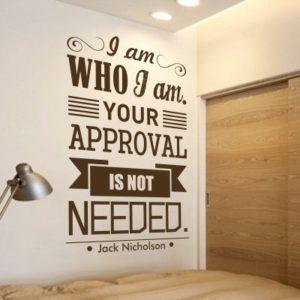 Adesivo Murale I Am Who I Am Jack Nicholson