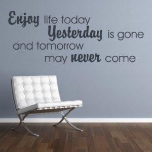 Adesivo Murale Enjoy Life Today