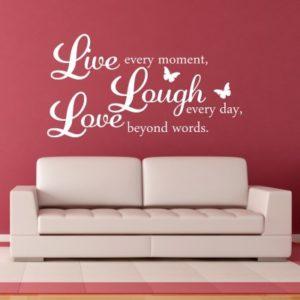 Adesivo Murale Live Laugh Love (4)