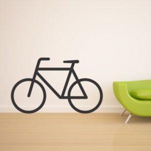 Adesivo Murale Bicicletta Minimal