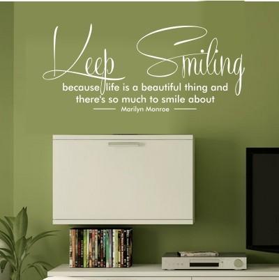 Adesivo Murale Keep Smiling