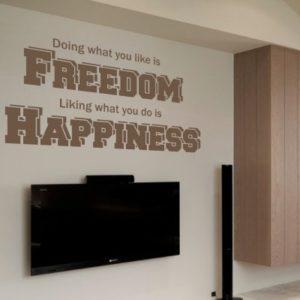 Adesivo Murale Freedom Happiness